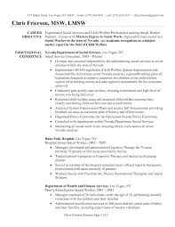 examples of objectives for resumes resume badak sample social work resume examples