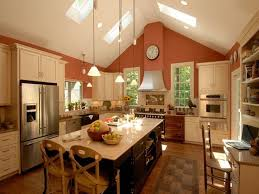 vaulted ceilings vaulted ceiling kitchen and ceilings on pinterest best lighting for cathedral ceilings