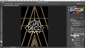 adding a lighting effect type project art deco postcard a lighting