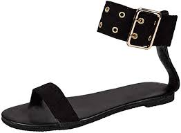 Lurryly Women's Summer Bow Buckle Strap Open ... - Amazon.com