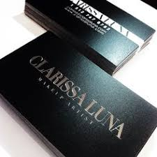 a business card i designed for clarissa luna 2016 39 s north american hair awards makeup artist of the year