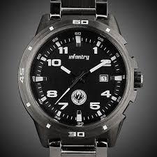 infantry mens analog wrist watch <b>date sport military army</b> gunmetal ...