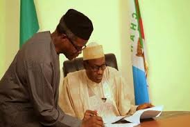 Image result for images of buhari swearing in