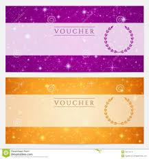 voucher gift certificate coupon template rose royalty gift certificate voucher coupon template stars stock images