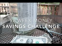 LIFE AS YOU LIVE IT: 52 WEEK MONEY SAVINGS CHALLENGE