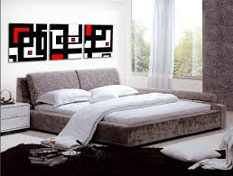 red wall paint black bed: handmade  piece black white red abstract wall art oil painting on canvas large pictures for