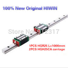 <b>Original HIWIN Linear</b> Guide Rails <b>1PCS</b> HGR25 L=1000mm+2PCS ...