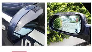 <b>2 pcs/lot Car</b> Rear view Mirror sticker rain eyebrow for SAAB 9 3 9 5 ...