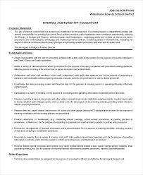 internal auditor job description template internal auditors job description