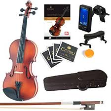 Mendini Full Size 4/4 MV300 Solid Wood Violin with ... - Amazon.com