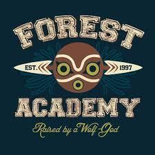 <b>Forest Academy T</b>-<b>Shirt</b>   Studio Ghibli   <b>Forest academy</b>, Shirts, Shirt ...
