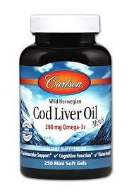 Carlson Labs, <b>Wild Norwegian Cod Liver</b> Oil Minis, 250 Mini Soft Gels