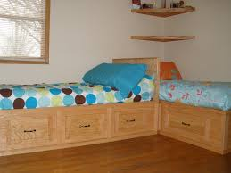 bedroom built ins cool cool oak unpolished built in beds with drawer as storage and corner fl