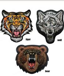 Tiger <b>wolf</b> bear orest iron on patch face etro hippie s embroidered ...
