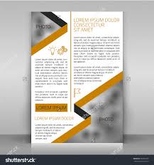 business flyer design brochure cover article stock vector brochure cover or article template layout beige and gray flat