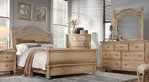 laurel view sand 5 pc queen sleigh bedroom bedroom set light wood light