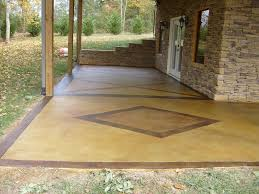 clean stained concrete patio