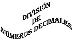 Resultado de imagen de divisiones de numeros decimales