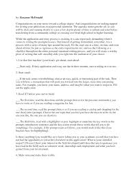 Personal Essay For College Sample Ho