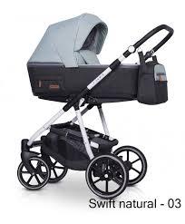 Универсальная <b>коляска 2 в 1</b> Riko SWIFT natural | Multifunctional ...