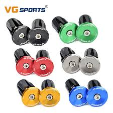 VG sports <b>1 pair Bike</b> Grip Handle Bar End Cap Aluminium Alloy ...
