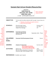 resume examples high school student  seangarrette coresume objective examples for high school students with food service experience