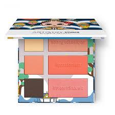 <b>Палетка для макияжа лица</b> 3 в 1: хайлайтер, тени и румяна ...
