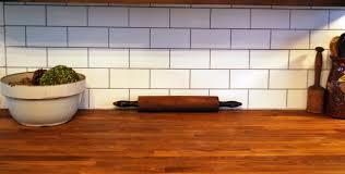 biscuit subway tile backsplash copper