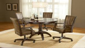 Dining Room Chairs With Arms And Casters Rolling Dinette Chairs Casual Dining Room Sets Dining Room Sets