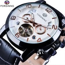<b>Forsining Tourbillion Fashion</b> Wave Black Golden Clock Multi ...