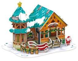 Купить <b>3D</b>-<b>пазл CubicFun</b> Рождественский домик 3 (P649h), 43 ...