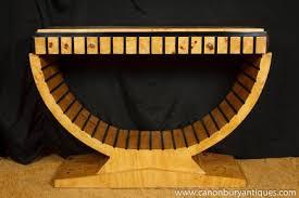 art deco console table furniture 1920s style blonde walnut art deco era furniture