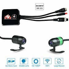 Full HD <b>DVR Motorcycle</b> Driving Recorder <b>WiFi</b> Camera Dash Cam ...