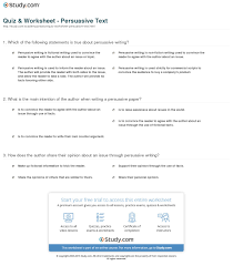 quiz worksheet persuasive text com print what is persuasive text definition examples worksheet