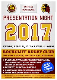 presentation night ticket whitley warriors presentation night 2017 ticket