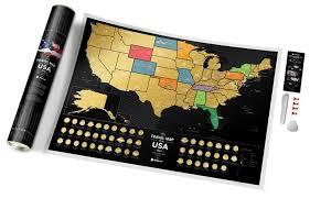 Купить <b>1DEA</b>.<b>me</b> Скретч <b>карта</b> Америки <b>Travel Map</b> USA Black по ...