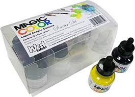 <b>Magic Color</b> Introductory Set 8 Bottles (28ml) of Liquid Acrylic <b>Colour</b> ...