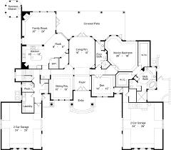 Magnificent Mediterranean House Plan   HD   st Floor Master    Floor Plan