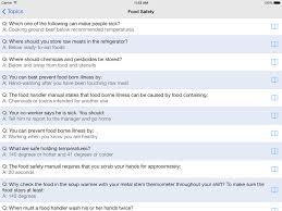 food handlers test  ipad  reviews at ipad quality indexfood handlers test screenshot