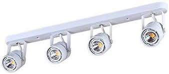KING SHA 28Watts 4-Lights White <b>LED Track Lighting</b> Kit with ...