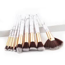 <b>9Pcs</b> / Set Brush Kosmetik / Makeup dengan Bulu Nilon / Pegangan ...