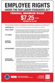 Fair Labor Standards Act (FLSA) Minimum Wage <b>Poster</b> | U.S. ...