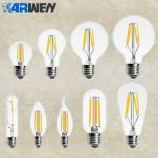 <b>KARWEN LED Edison</b> Bulb E14 E27 <b>Filament</b> Candle Light 220v ...