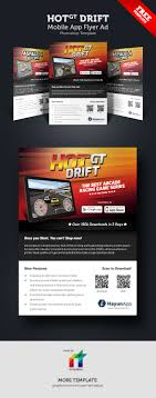 mobile games app flyer template on behance hotgt drift mobile games app flyer is perfectly match if you are developer or selling mobile games at appstore or playstore it can be press ad