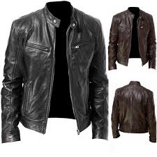 Best Offers <b>pu leather jacket men</b> black list and get free shipping - a17