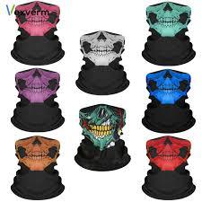 <b>BJMOTO</b> Halloween Scarf Mask Festival <b>Motorcycle</b> Face Shield ...