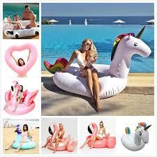 Heart <b>Giant</b> Swimming Ring Flamingo Unicorn <b>Inflatable</b> Pool Float ...