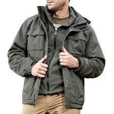 <b>mens</b> outdoor military waterproof <b>sport 2 in 1</b> jacket <b>casual</b> multi ...