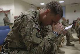 Image result for soldier praying