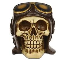Buy <b>Gothic Skull</b> Gost Rider Pilot <b>Halloween</b> Show Piece for Table ...